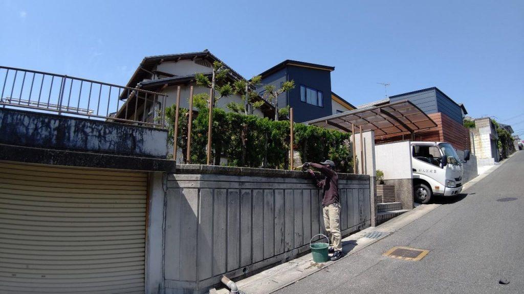 岡山市北区津高地内|M様邸 目隠しフェンス工事
