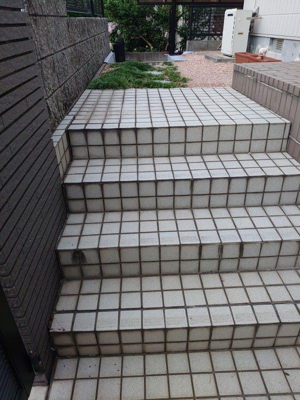 岡山市東区外構リフォーム(階段)